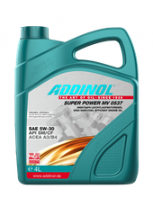 На фото: Масло моторное Addinol MV0537 Super Power 5w30 4л