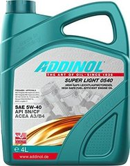 На фото: Масло моторное Addinol 0540 Super Light 5w40 4л